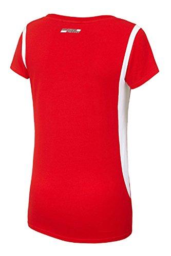 Tee-shirt Femme Scuderia Ferrari Bicolore Rouge