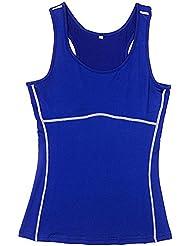 Laixing Buena Calidad Women Tank Top Vest Fitness Training Slim Tights wicking sportswear Yoga