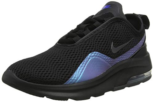 Nike Damen Air Max Motion 2 Gymnastikschuhe, Mehrfarbig (Black/Anthracite/Racer Blue 004), 36.5 EU