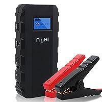 FlyHi 500A Peak 13600mAh Portable Car Jump Starter Phone Power Bank(Up to 4.2 L Gas or 3.0 L Diesel Engine),with 5V USB Charging Port,12V/16V/19V Laptop Charging ,LCD Display, LED Flashlight