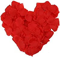 eBoot 1000 Pieces Silk Rose Petals Wedding Confetti (Red)