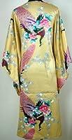 Shanghai Tongue® Peacock Nightgown Kimono Sleepwear Gown Gold One Size
