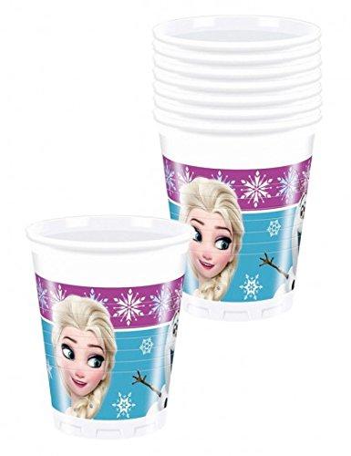 Procos 86756 - Bicchieri Plastica Disney Frozen Northern Lights (200 ml), 8 Pezzi, Multicolore