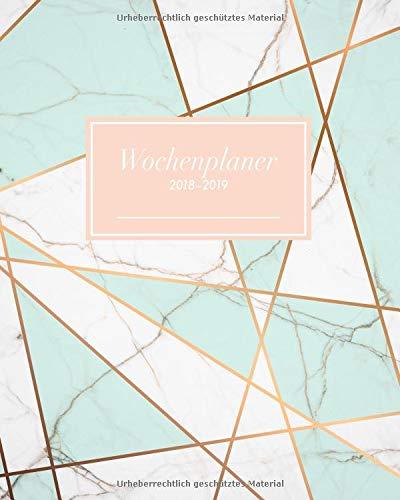 Produktbild Wochenplaner 2018-2019: Oktober 2018 bis Dezember 2019,  Modernes Marmor-Pattern Design türkis,  1 Woche auf 2 Seiten,  20 x 25 cm (Bürobedarf 2018-2019,  Band 1)