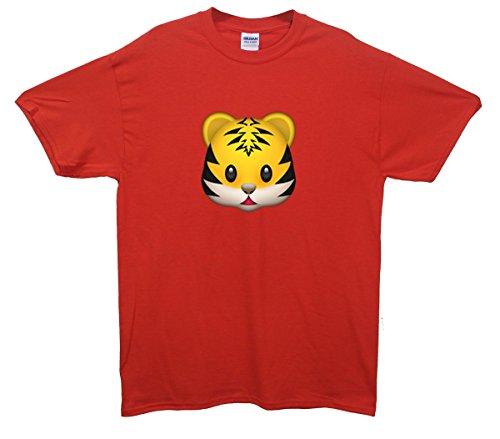 Tiger Emoji T-Shirt Rot