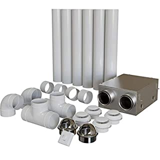 Blauberg Heat Recovery Ventilation Kit - Whole House Self Build DIY Kit System - 1 Bedroom Apartment or Flat - KIT-ULTRA-D105-AK1 (1 Bed Apartment)