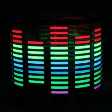 Bheema voiture Autocollants Sound Music Activé capteur LED Light Equalizer Glow