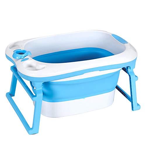 KASIQIWA Bebé baño Plegable Barril, fácil Almacenamiento 3 Modos de baño Sentado...