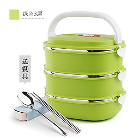 Stainless Steel Multilayer Insulated Lunch Box Sealed Leak-proof Dinner Pail