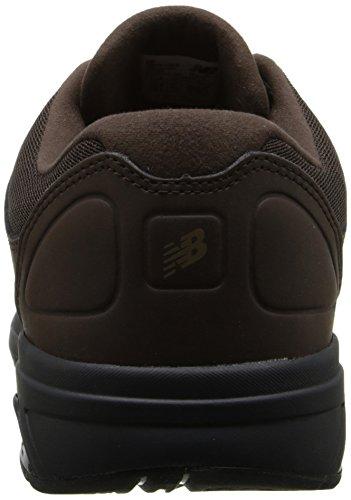 New Balance Men's MW813 Walking Shoe, Black, 12 4E US brown