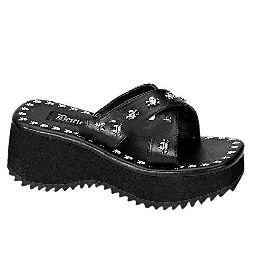 Demonia Flip-05 - Gothic Flip Flop Plateau Schuhe 36-43, Größe:EU-41/42 / US-11 / UK-8