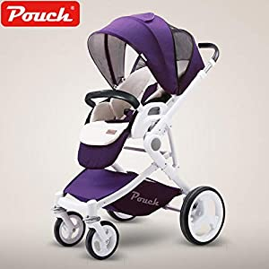 Baby Stroller can Lay Two-Way Stroller Foldable Lightweight Baby Stroller 5   15
