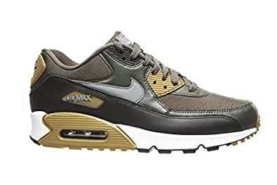 size 40 f104c 4b724 ... Nike Men s Air Max 90 Essential Running Shoe, Cargo Khaki Cool  Grey-Black-Sequoia 9