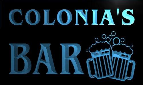 w141939-b-colonia-name-home-bar-pub-beer-mugs-cheers-neon-light-sign