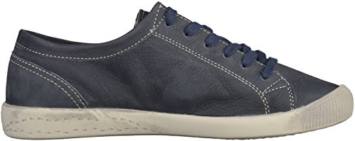 Softinos Damen Isla Smooth Sneaker Blau (Navy)