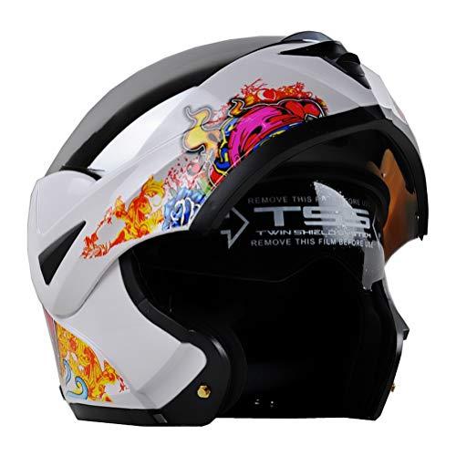 Casco da motociclista in fibra di carbonio, casco integrale per motociclisti, casco da motociclista per tutte le stagio