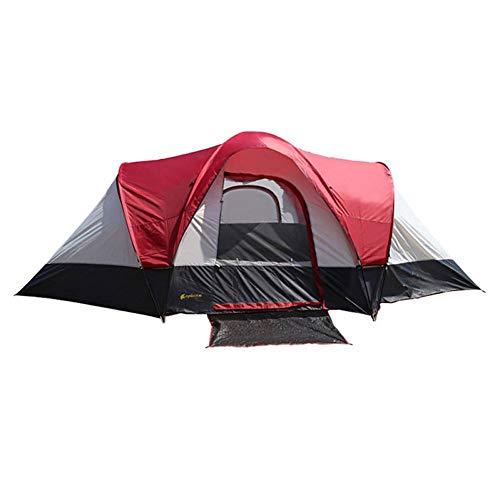 RDGDSGED 8 Personen Kabinenzelt Familienzelt im Freien Winddicht Regen Wasserdicht Doppelschichtstangen Kuppelzelt Zelt Zwei Räume für Camping/Wandern/Höhlenpicknick Polyester Oxford Polyester -