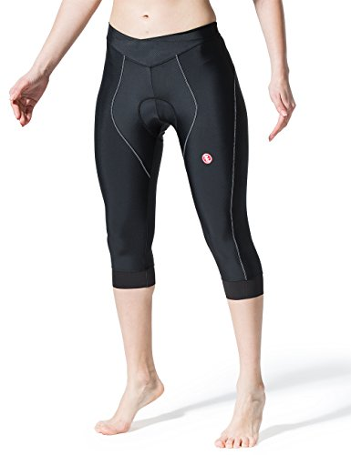 Souke Sports Damen Radhose 4D Gepolsterter Komfortabler Bike Pants 3/4Capris