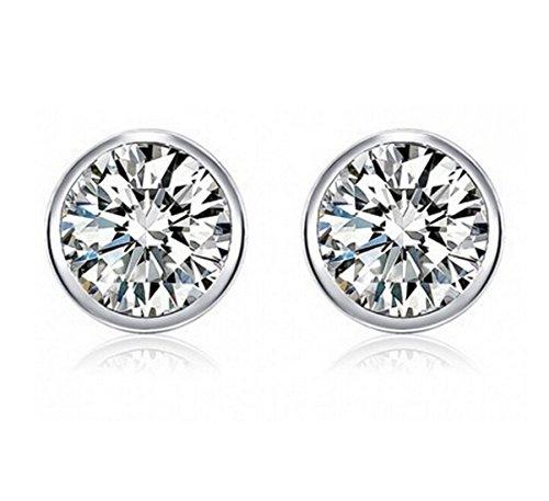 Vestito alla moda - Argento 925/1000 zircone cristallo round Orecchini Donne