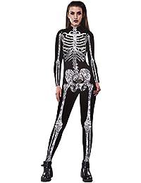 Kostum Skelett Schwarz Weiss Halloween Karneval Fasching