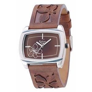 Kahuna KUS-0041L – Reloj analógico de mujer con correa de piel marrón