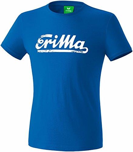 Erima T-shirt Rétro King Blue/Blanc