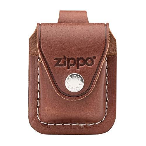 Zippo Ledertasche braun mit Schlaufe