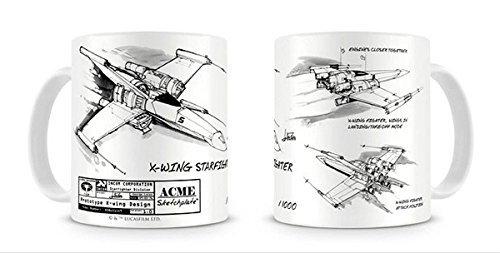 Star Wars-Kaffeetasse Becher/Tasse aus Keramik (X-Wing Starfighter)