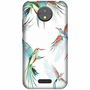 Design Worlds 3D Designer Back Cover For Motorola Moto C Along with a Free Personalized Pen with your name