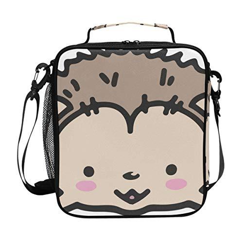Malpley Kühltasche mit Igel-Mälchen, isoliert, Lunchbox -