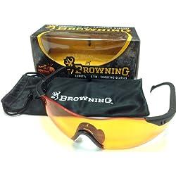Browning Claybuster Lunette de Protection Mixte Adulte, Noir