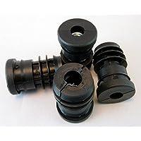 M8Metal roscados Insertos de tubo redondo de plástico de 25mm de tubo ajustable pies ruedas
