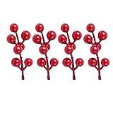 100Künstliche Mini Cherry Beeren Weihnachtsbaum Dekoration Pearl Blume Staubblatt Hochzeit Bouquet