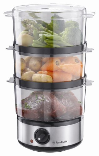 41bJsrNhogL - Russell Hobbs Food Collection Compact Food Steamer 14453, 7 L - Brushed Stainless Steel