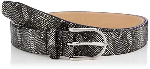 Brax Damen Ledergürtel mit Schlangenprint Gürtel, Schwarz (Black 2), 6631 (Herstellergröße: 85) (Schwarze Schlangen)