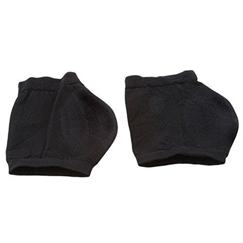 L_shop Fersensporn Bandage Fersenschutz-Socke Geknackt Fu?Pflege Schmerzlinderung Anti-knacken Kissen Pad,Acryl + Silikongel,Schwarzer L-Code