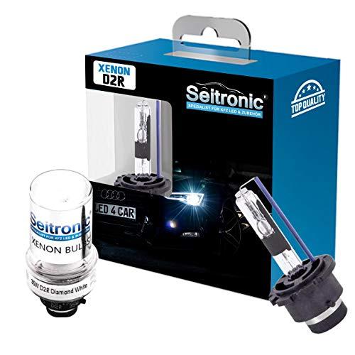 Preisvergleich Produktbild Seitronic 2X D2R Xenon Brenner Sky Blue 8000K Xenon Birne Lampe E4 Prüfzeichen 8000 Kelvin Entladungslampe Ersatzlampe Autolampe D2R Sky Blue 8000K