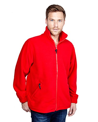Uneek Premium Full Zip Micro Fleece Jacket Mens 380 gsm - 7 Colours Available