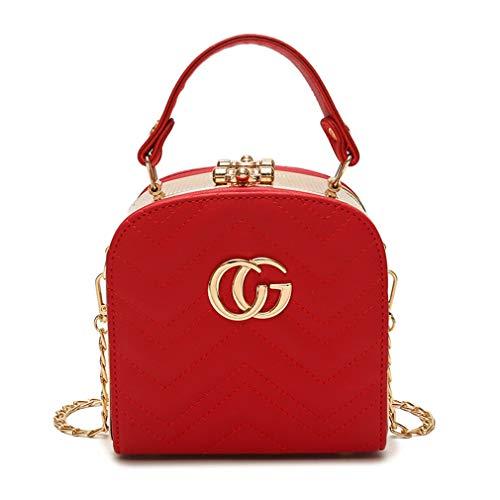 Schultertasche Messenger Bags Damen Handtasche Red 16cm8cm15cm