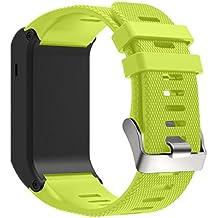 Correas para Garmin vivoactive HR - Sannysis banda de silicona con adaptadores (Verde)
