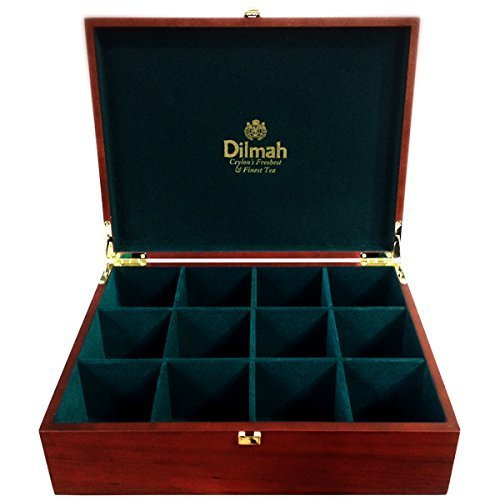 dilmah-luxury-wooden-presenter-tea-chest-gourmet-12-slot-holds-120-tea-bags-tea-bags-sold-seperately