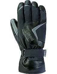 Snowlife guantes de esquí / guantes de snowboard para hombre, con auténtico cuero, membrana GORE-TEX y +GORE con tecnología 2en1, extremadamente calientes HOT DOG GTX 2en1 Glove, negro, M/S