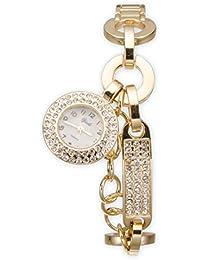 Yaki lujo Ladies pulsera reloj Mujer Cuarzo Metal reloj de pulsera strass oro yf162-y