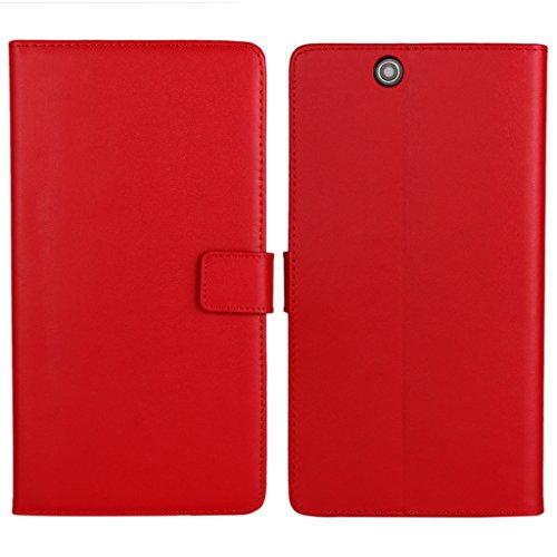 UKDANDANWEI Sony Xperia Z Ultra Hülle - Book-Style Wallet Case Flip Cover Etui Tasche Case mit Standfunktion Für Sony Xperia Z Ultra Rot