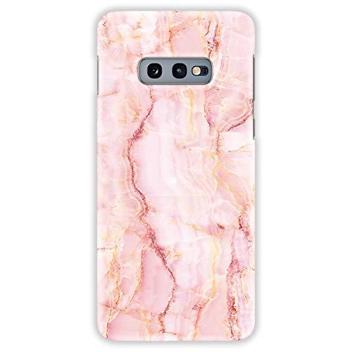 TheSmartGuard Hülle kompatibel für Samsung Galaxy S10e Hülle Crystal Kristall Rosa Gelb Weiß Hard-Case Schutzhülle aus Kunststoff Cover Rosa Crystal Hard Case Cover