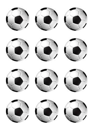 Muffinaufleger Muffins Amerikaner Kindergeburtstag Fussballparty Tortenaufleger Fussball Farbe Schwarz FB01
