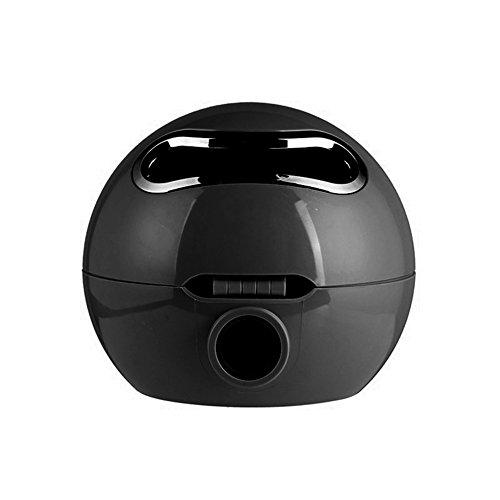beiguoxia Ball Form Emoji-Facial Badezimmer Tissue Halter Wasserdicht WC-Rolle Papier Box, plastik, schwarz, Einheitsgröße