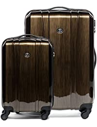 611f6ca895eb FERGÉ luggage many colors and sizes suitcase Dijon trolley hard-top case 4 spinner  wheels
