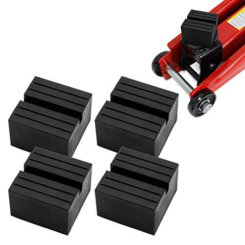 Miafamily Gummiauflage Wagenheberaufnahme Wagenheber Gummiblock Gummi 75X75X25mm (4 Stück)