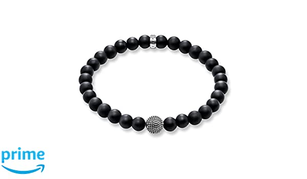 Thomas Sabo/ /A1085-023-11-M /Bead Karma Scarab/ée perle argent 925/Onyx Noir/